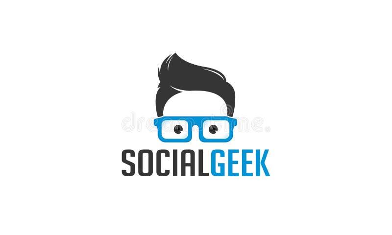 Κοινωνικό λογότυπο Geek απεικόνιση αποθεμάτων