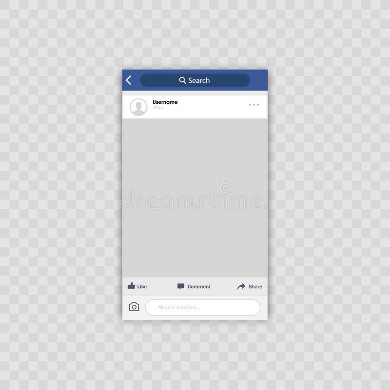 Κοινωνικό πλαίσιο φωτογραφιών δικτύων επίσης corel σύρετε το διάνυσμα απεικόνισης Έννοια διεπαφών ελεύθερη απεικόνιση δικαιώματος
