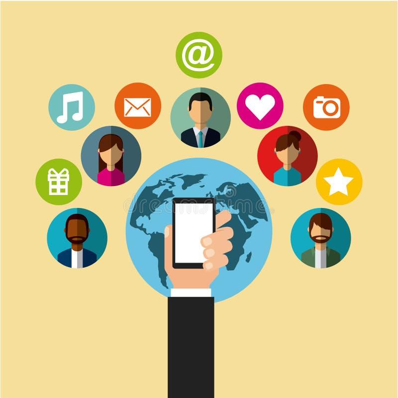 Κοινωνικό σχέδιο μέσων απεικόνιση αποθεμάτων