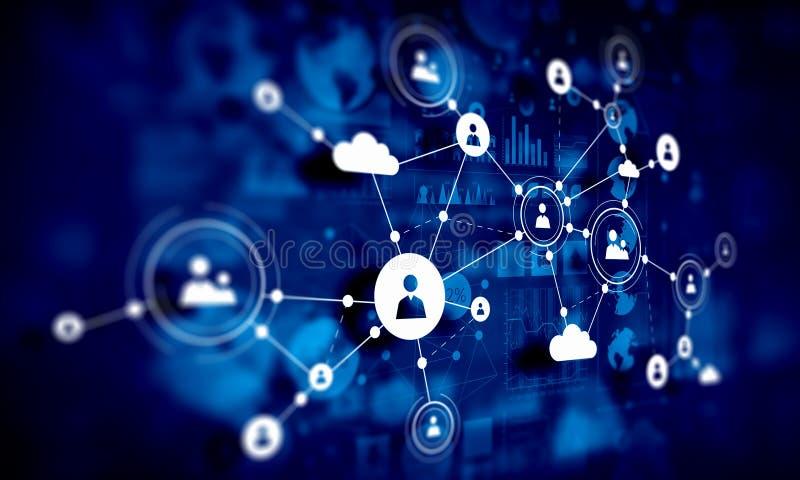 Κοινωνικό υπόβαθρο δικτύων Μικτά μέσα στοκ εικόνες