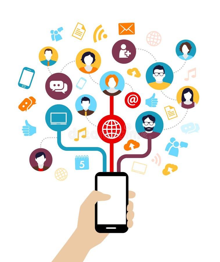 Κοινωνικό υπόβαθρο μέσων απεικόνιση αποθεμάτων