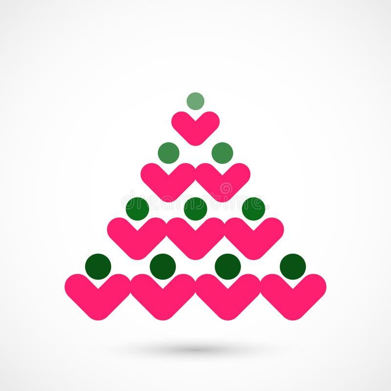 Κοινωνικό χριστουγεννιάτικο δέντρο απεικόνιση αποθεμάτων