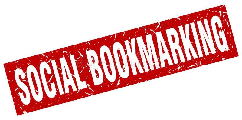 κοινωνικό bookmarking γραμματόσημο απεικόνιση αποθεμάτων