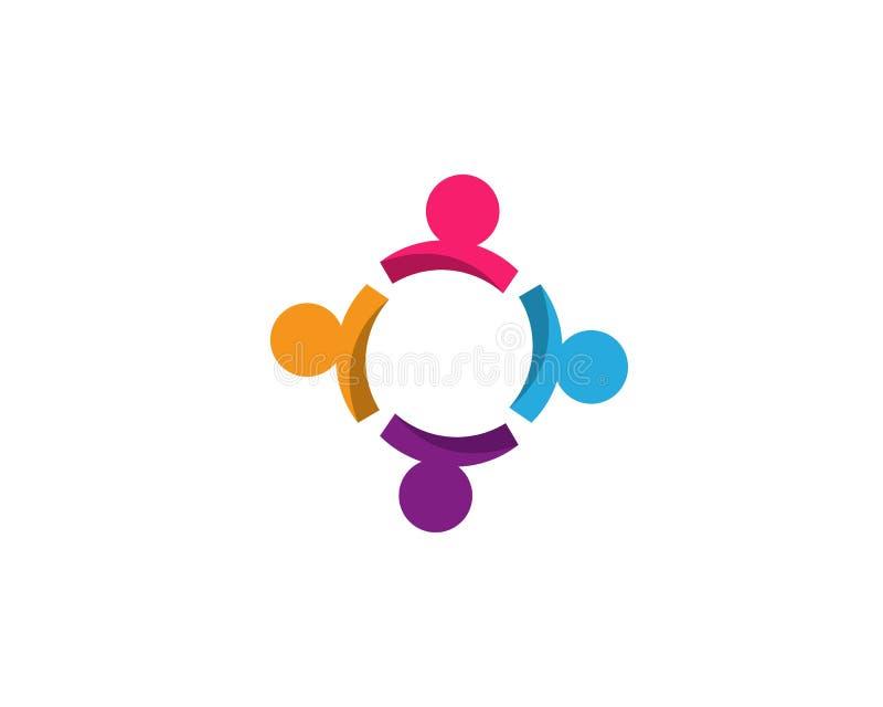 Κοινότητα, δίκτυο και κοινωνικό εικονίδιο ελεύθερη απεικόνιση δικαιώματος
