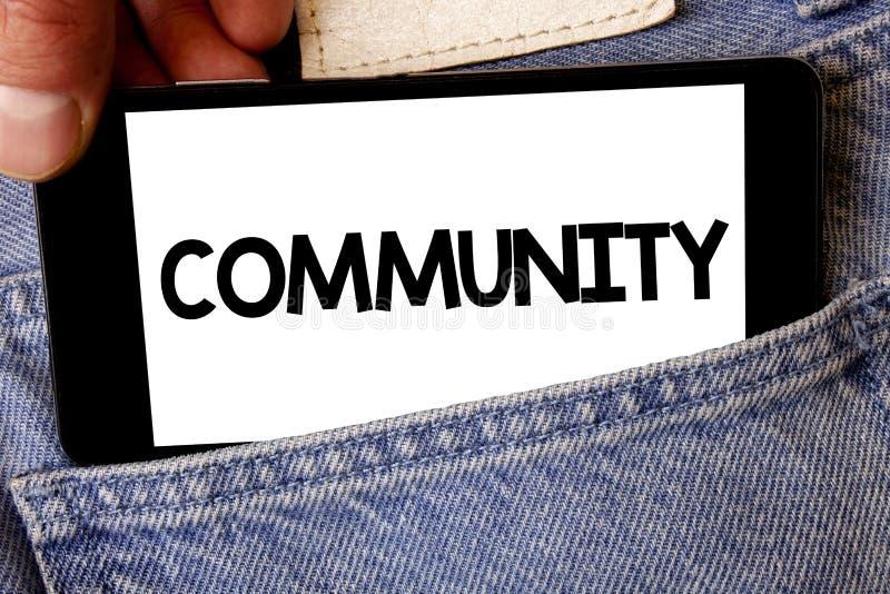Κοινότητα κειμένων γραφής Έννοια που σημαίνει το κύτταρο εκμετάλλευσης λαβής ατόμων ομάδας ενότητας συμμαχίας κρατικών συνεταιρισ στοκ φωτογραφίες