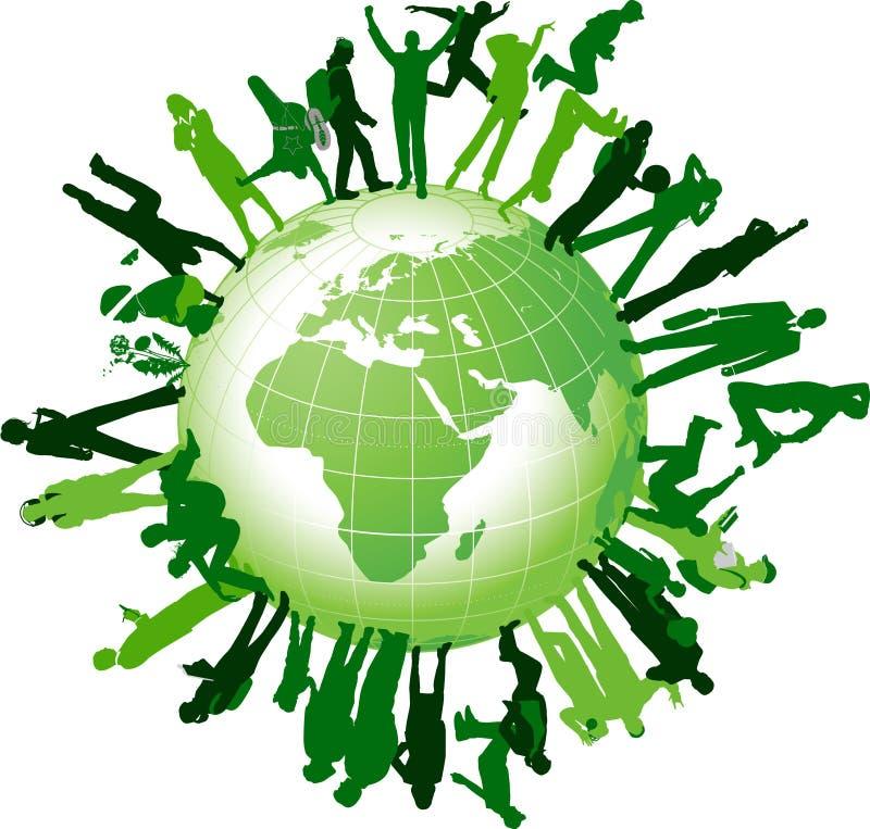 κοινότητα παγκόσμια ελεύθερη απεικόνιση δικαιώματος
