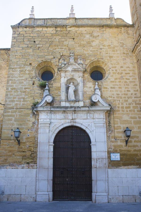 Κοινότητα της πρόσοψης εκκλησιών αποστόλων του Σαντιάγο, Montilla, Ισπανία στοκ φωτογραφία με δικαίωμα ελεύθερης χρήσης