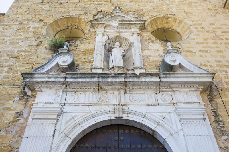 Κοινότητα της πρόσοψης εκκλησιών αποστόλων του Σαντιάγο, Montilla, Ισπανία στοκ εικόνες