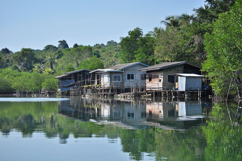 Κοινότητα όχθεων ποταμού στοκ φωτογραφίες