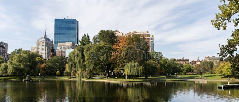 Κοινό πανόραμα πάρκων της Βοστώνης στοκ εικόνες