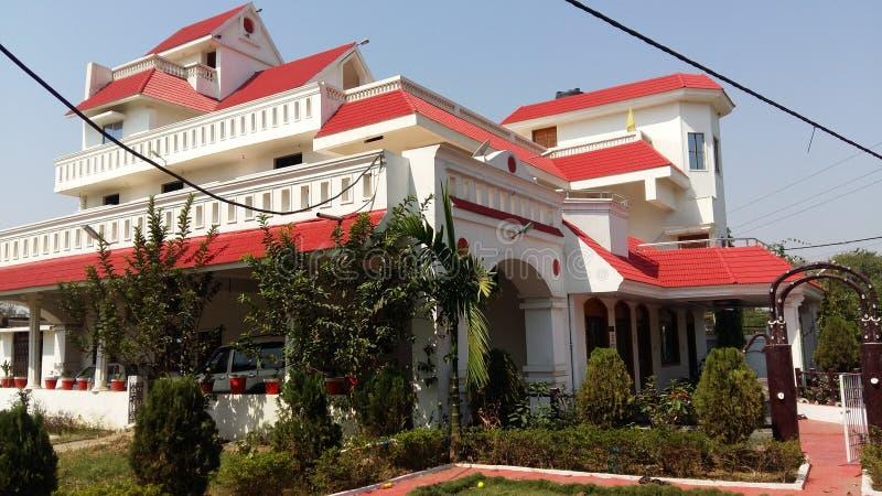 Κοινό σπίτι με πολλές ιστορίες στην Ινδία στοκ εικόνες