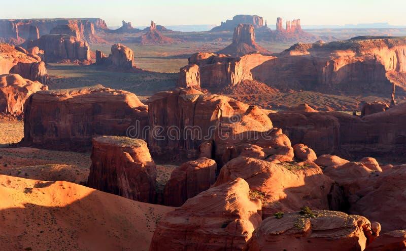 Κοιλάδα μνημείων/κυνήγια Mesa στοκ φωτογραφία με δικαίωμα ελεύθερης χρήσης