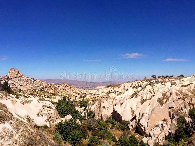 Κοιλάδα περιστεριών, κάστρο Uçhisar, Τουρκία στοκ φωτογραφία με δικαίωμα ελεύθερης χρήσης