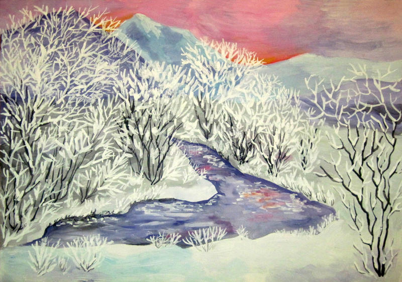 Κοιλάδα στον παγετό απεικόνιση αποθεμάτων