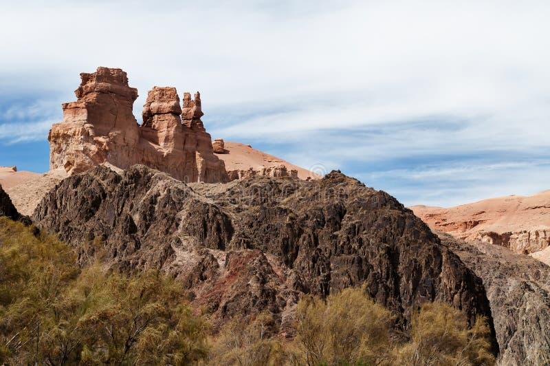 Κοιλάδα των κάστρων στο φαράγγι της Sharyn στοκ φωτογραφίες με δικαίωμα ελεύθερης χρήσης