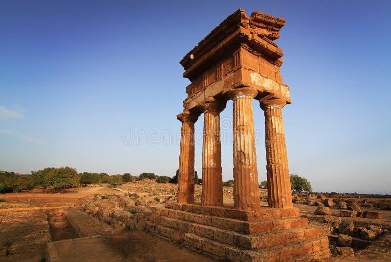 Κοιλάδα των ναών στο Agrigento στοκ φωτογραφία με δικαίωμα ελεύθερης χρήσης