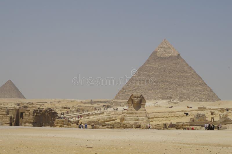 Κοιλάδα Giza - Sphinx στοκ εικόνα