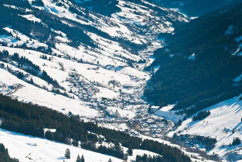Κοιλάδα Glemmtal στην περιοχή Saalbach Hinterglemm στοκ εικόνα με δικαίωμα ελεύθερης χρήσης
