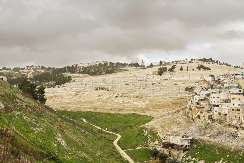 Κοιλάδα Kidron Ιερουσαλήμ στοκ εικόνες