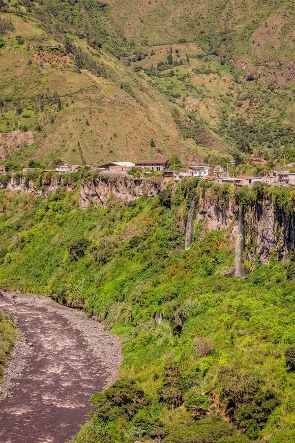 Κοιλάδα Pastaza στα βουνά των Άνδεων, Νότια Αμερική στοκ εικόνες με δικαίωμα ελεύθερης χρήσης