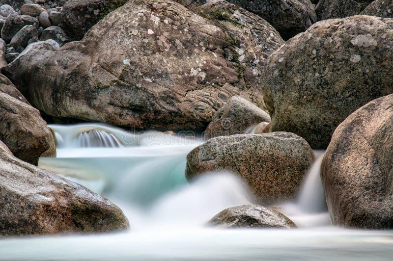 Κοιλάδα Restonica - Κορσική στοκ εικόνες