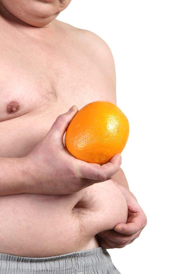 Κοιλιά και πορτοκάλι στοκ εικόνες