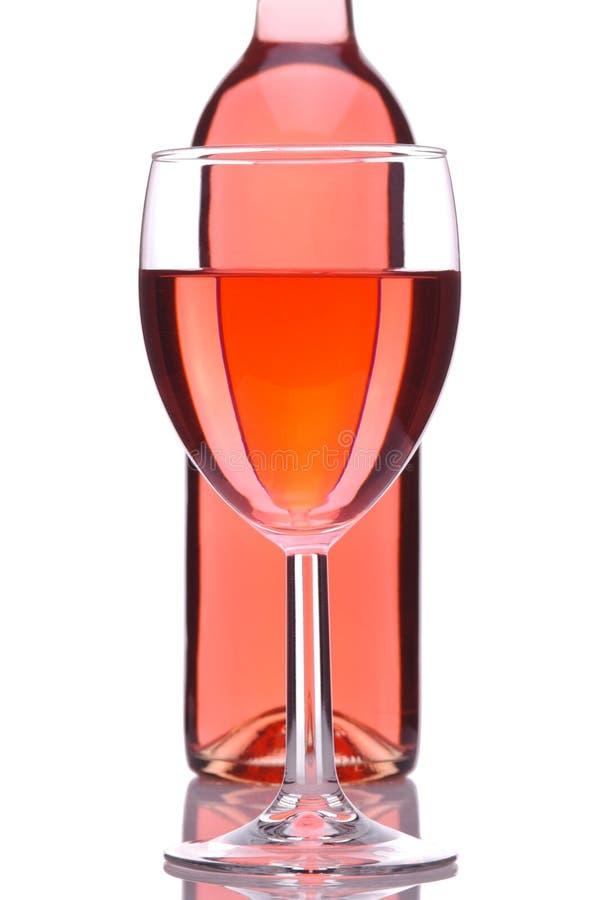κοκκινίστε κρασί γυαλιού μπουκαλιών στοκ εικόνες με δικαίωμα ελεύθερης χρήσης