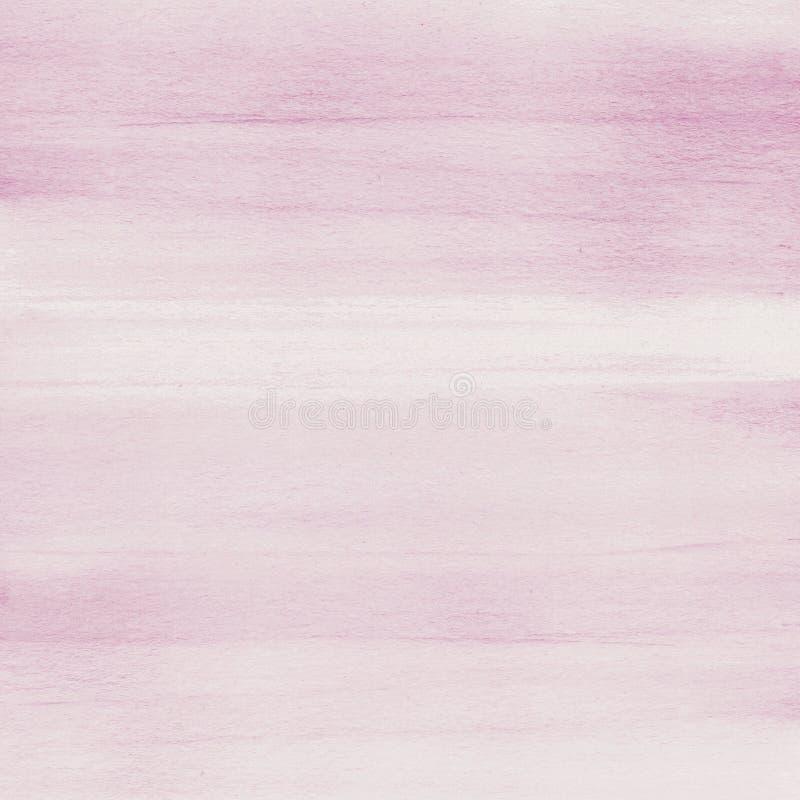 Κοκκινίστε ρόδινο υπόβαθρο σύστασης watercolor, χέρι που χρωματίζεται στοκ εικόνες με δικαίωμα ελεύθερης χρήσης