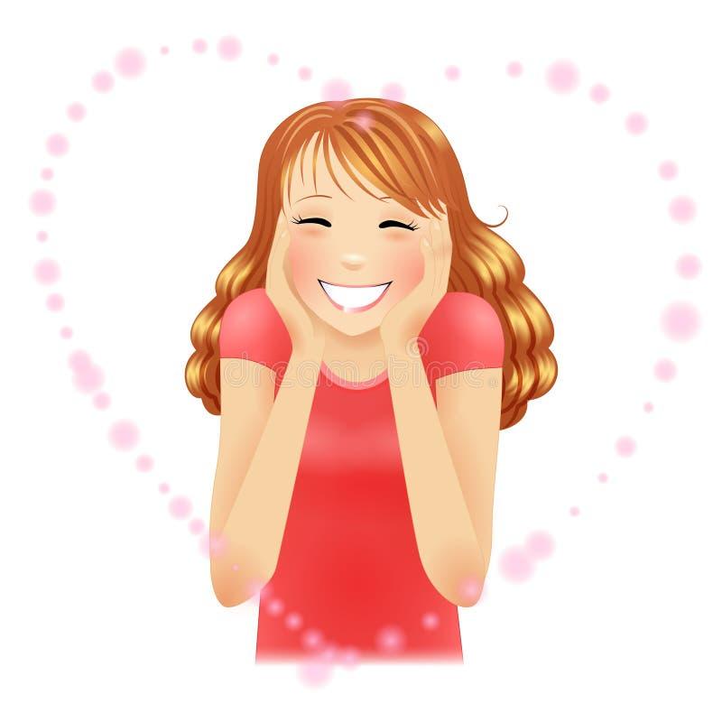 κοκκινισμένο κορίτσι στοκ εικόνες με δικαίωμα ελεύθερης χρήσης