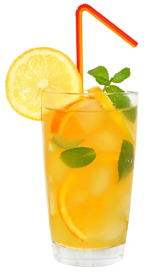 Κοκτέιλ με το χυμό πορτοκαλιών και λεμονιών στοκ εικόνες με δικαίωμα ελεύθερης χρήσης