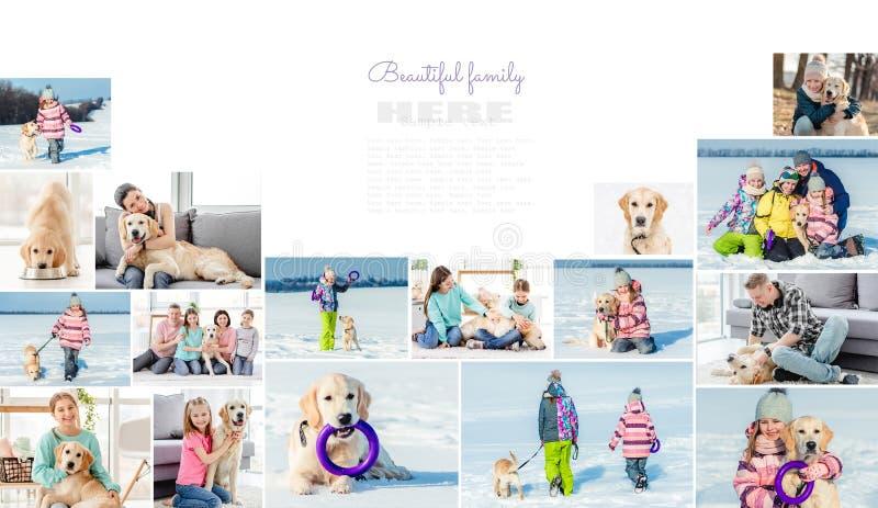 Κολάζ ευτυχισμένης οικογένειας στοκ εικόνες