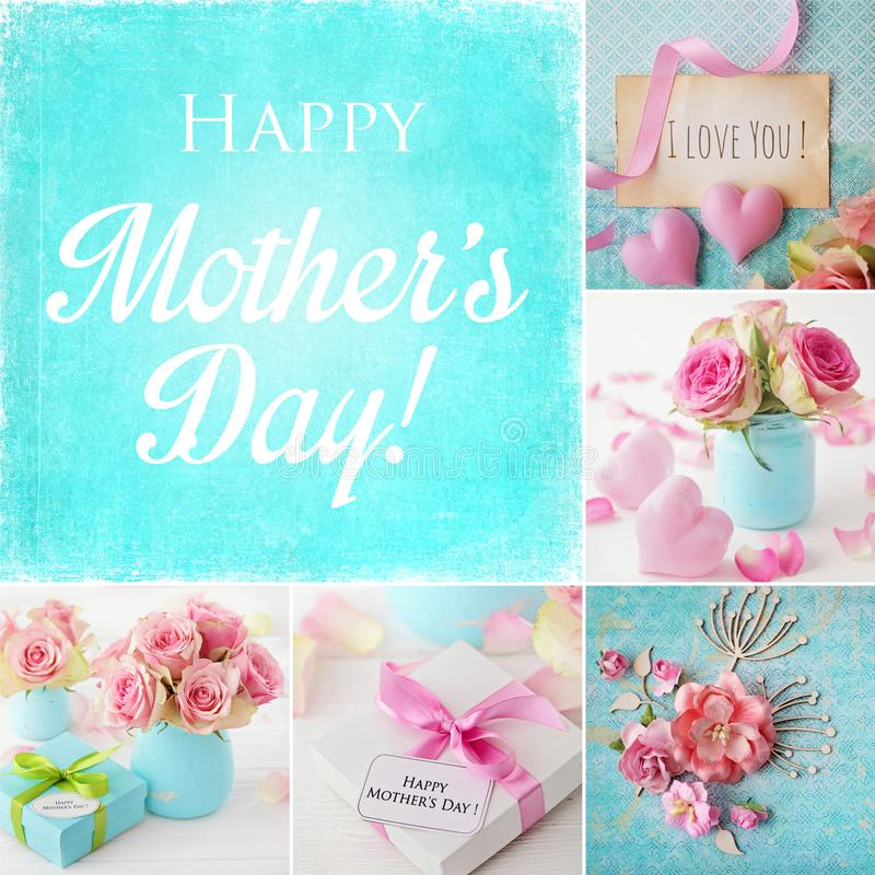 Κολάζ ημέρας μητέρων στοκ εικόνες με δικαίωμα ελεύθερης χρήσης