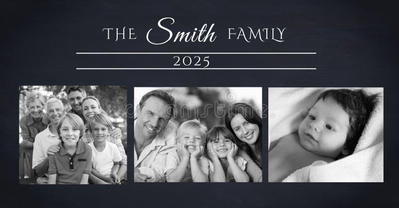κολάζ οικογενειακών φωτογραφιών στοκ φωτογραφία