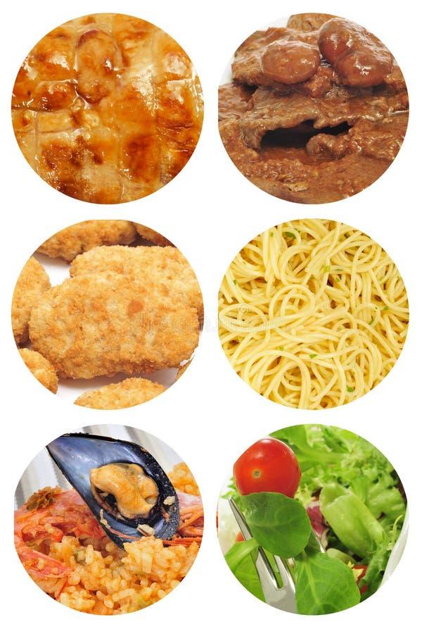 Κολάζ πιάτων τροφίμων στοκ φωτογραφία με δικαίωμα ελεύθερης χρήσης