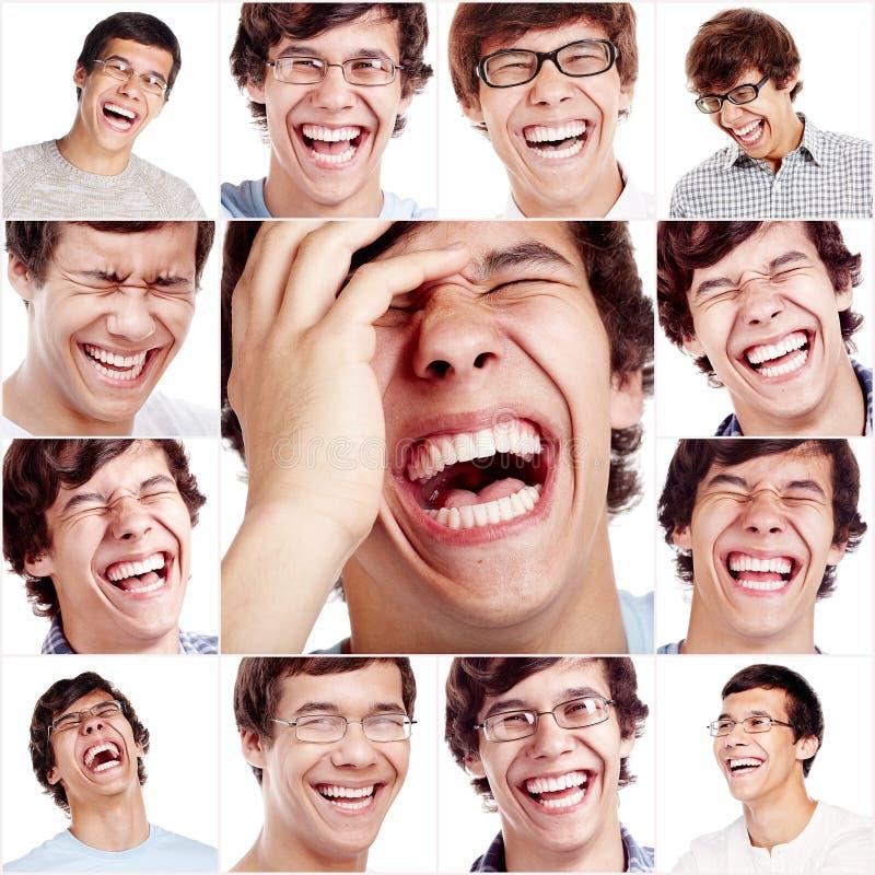 Κολάζ προσώπου γέλιου στοκ φωτογραφία με δικαίωμα ελεύθερης χρήσης
