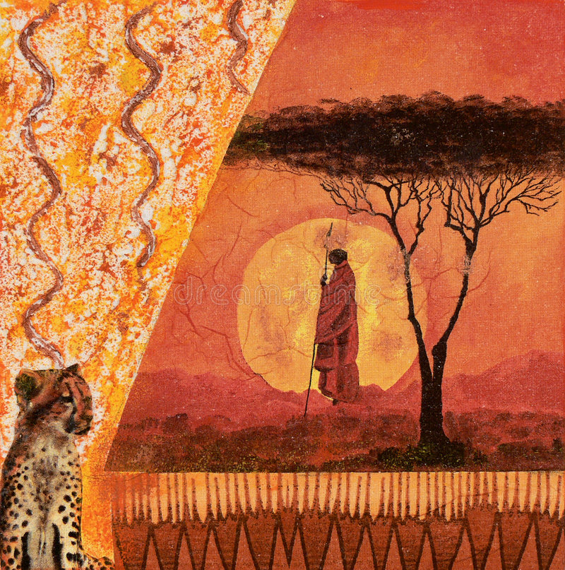 κολάζ της Αφρικής διανυσματική απεικόνιση