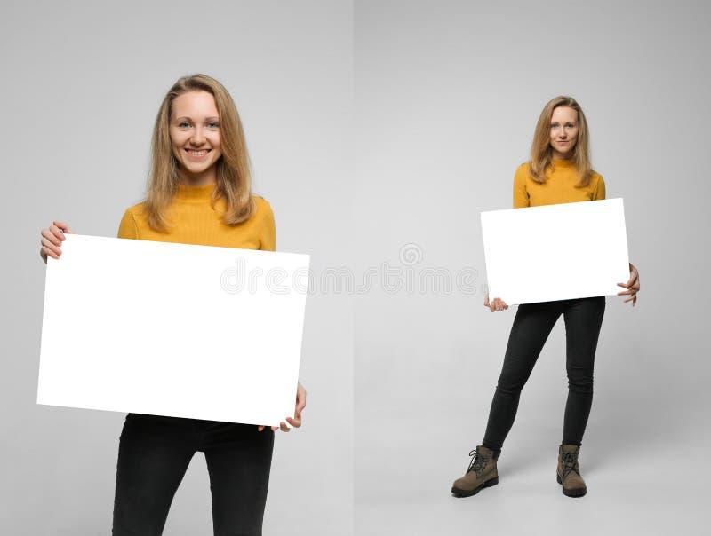 Κολάζ της γυναίκας με το πρότυπο στοκ φωτογραφίες με δικαίωμα ελεύθερης χρήσης