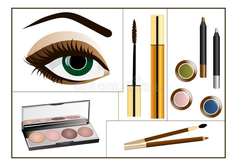 κολάζ makeup ελεύθερη απεικόνιση δικαιώματος