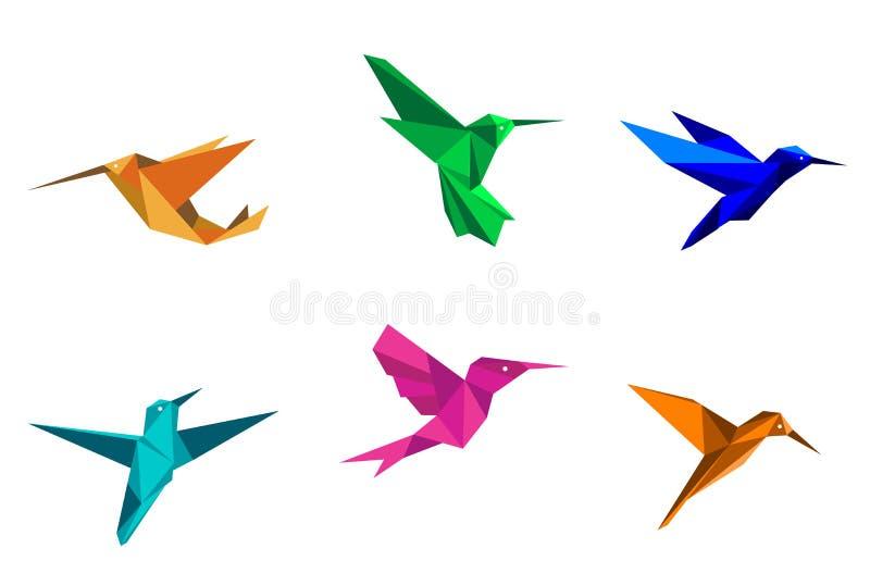 Κολίβρια Origami ελεύθερη απεικόνιση δικαιώματος