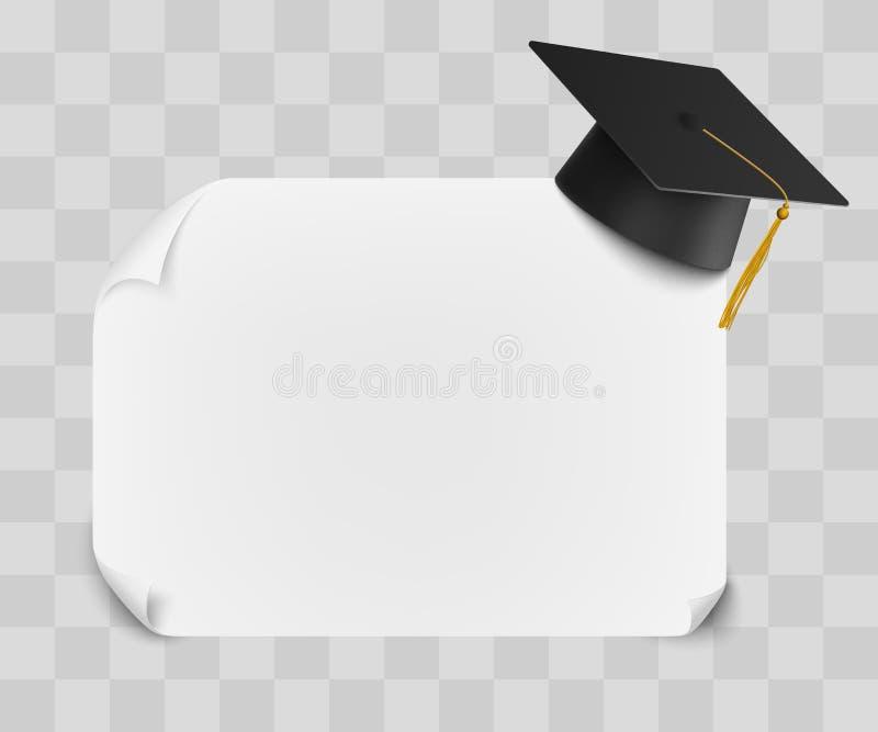 Κολλέγιο ή πανεπιστημιακή βαθμολόγηση ΚΑΠ και κενό σχέδιο προτύπων φύλλων διπλωμάτων ελεύθερη απεικόνιση δικαιώματος