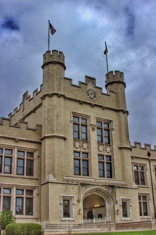 Κολλέγιο συλλογικού γοτθικού Wooster, Οχάιο στοκ φωτογραφίες