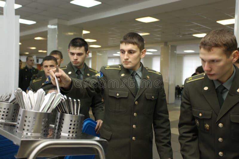 κολλέγιο τα στρατιωτικά ρωσικά στοκ εικόνες