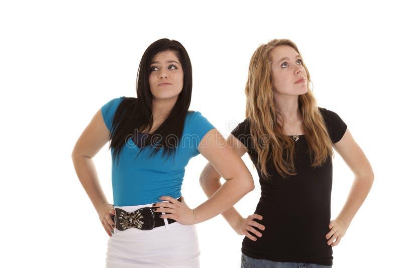 κολλημένος κορίτσια έφηβος επάνω στοκ φωτογραφία με δικαίωμα ελεύθερης χρήσης