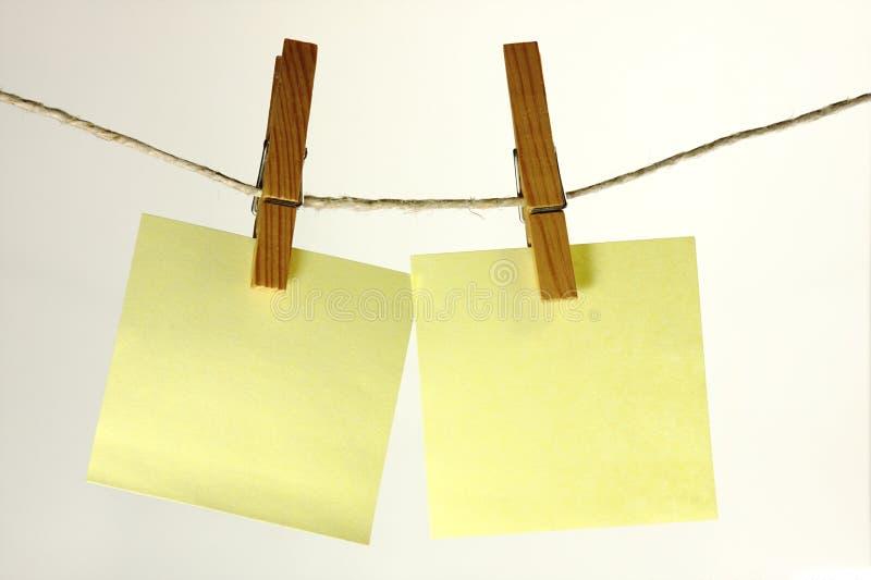 Κολλώδεις σημειώσεις στοκ φωτογραφία με δικαίωμα ελεύθερης χρήσης