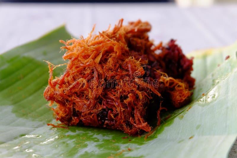 Κολλώδες ρύζι με το χοιρινό κρέας στοκ εικόνες