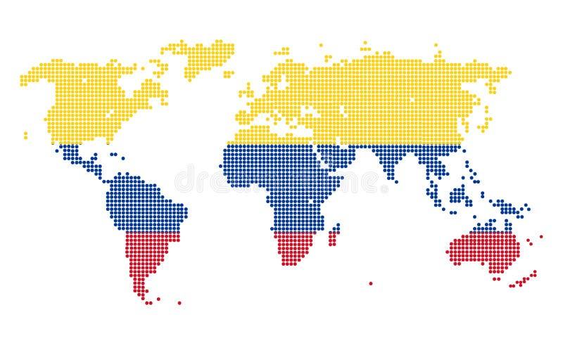 Κολομβία διανυσματική απεικόνιση
