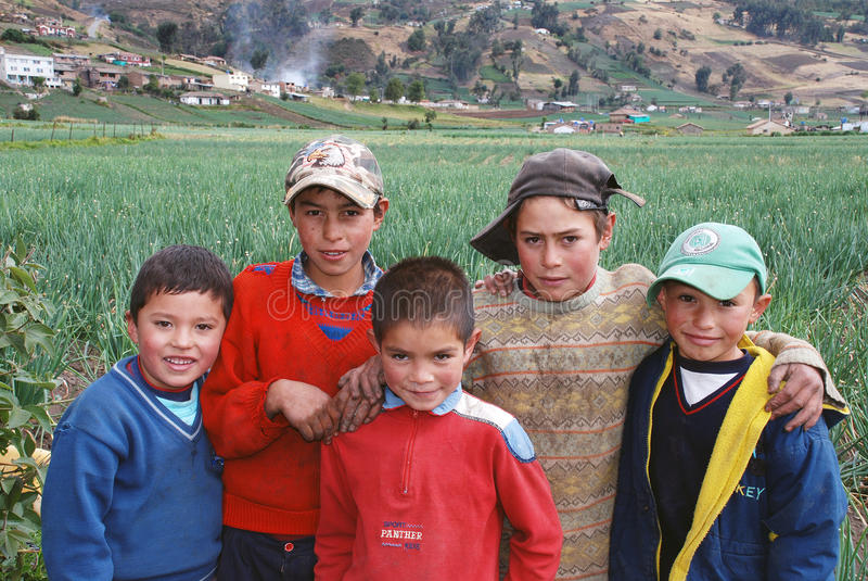 Κολομβιανά αγροτικά παιδιά στοκ φωτογραφίες με δικαίωμα ελεύθερης χρήσης