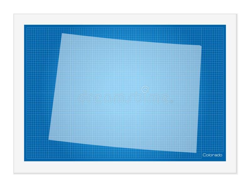 Κολοράντο στο σχεδιάγραμμα ελεύθερη απεικόνιση δικαιώματος