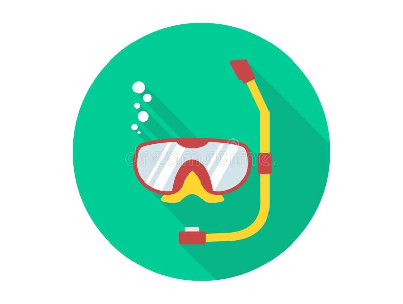 Κολυμπήστε με αναπνευτήρα διανυσματικό σύμβολο σημαδιών εικονιδίων απεικόνιση αποθεμάτων