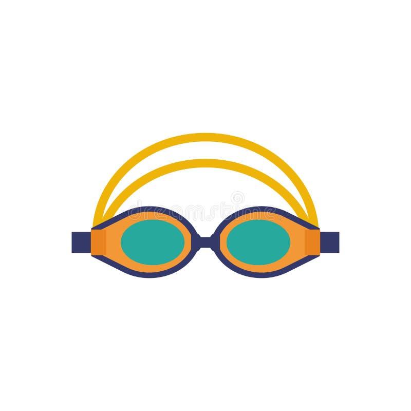 Κολυμπώντας εικονίδιο αθλητικών προστατευτικών διόπτρων γυαλιών διανυσματική απεικόνιση